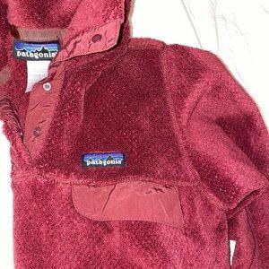 Patagonia Fleece Pullover Retool Burgundy Maroon